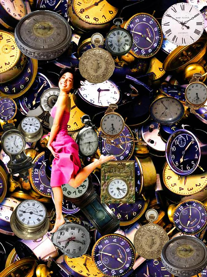 Time Mixed Media - Running Out Of Time by Animi Dawn