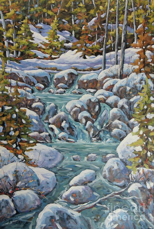 Running River Spring Melt created by Richard T Pranke by Richard T Pranke