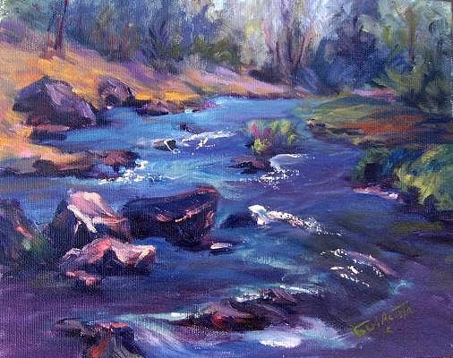 Running Stream Painting by Geri Acosta