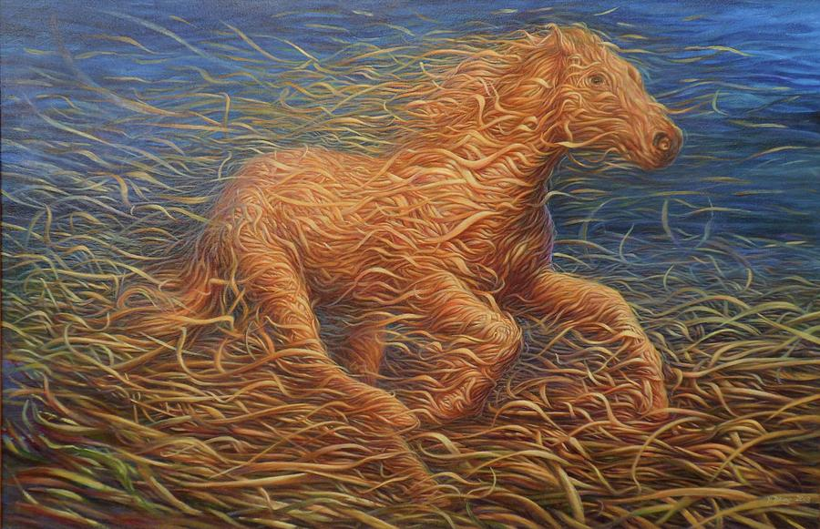 Running Swirly Horse by Hans Droog