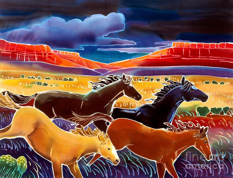 Horses Painting - Running The Open Range by Harriet Peck Taylor