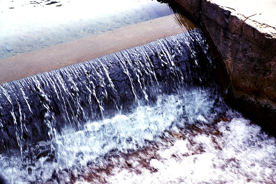 Rocks Photograph - Running Water by William Hall