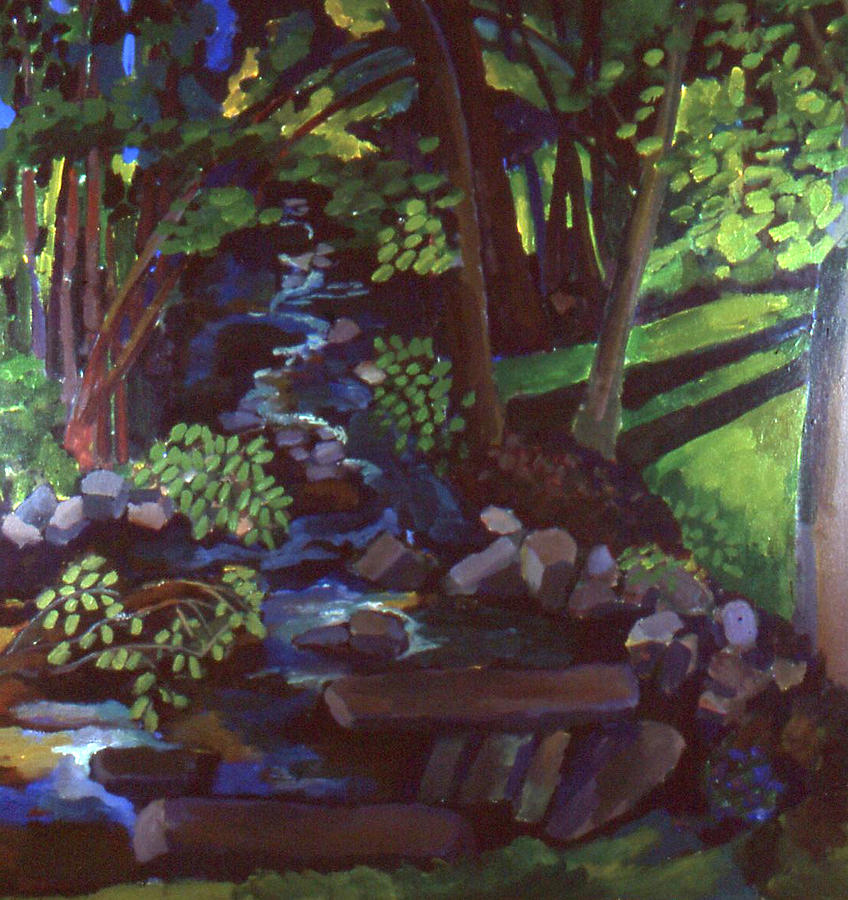 Pennsylvania Painting - Runoff Stream by Doris  Lane Grey