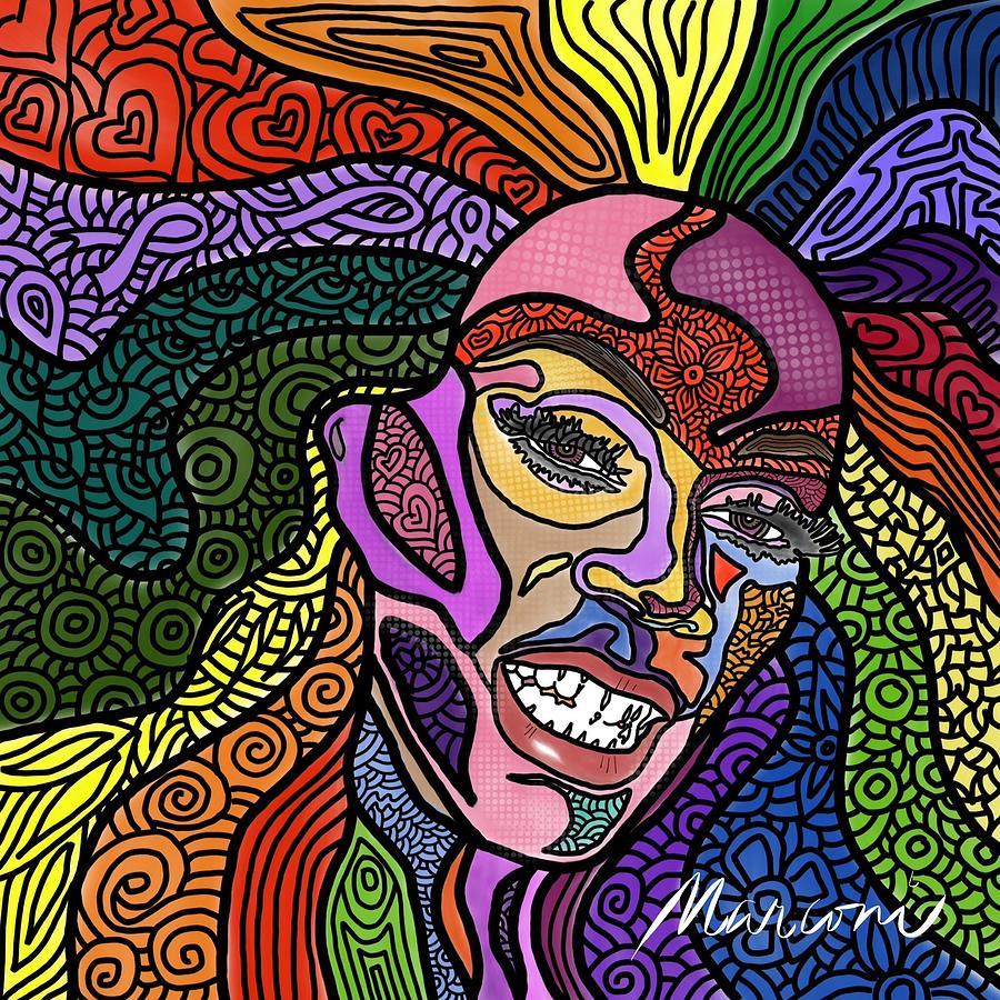 Rupaul Digital Art - Rupaul A Drag by Marconi Calindas