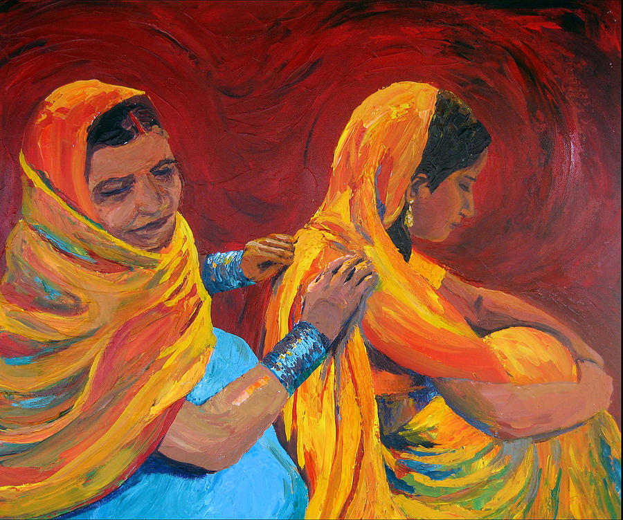 India Painting - Ruppa by Art Nomad Sandra  Hansen