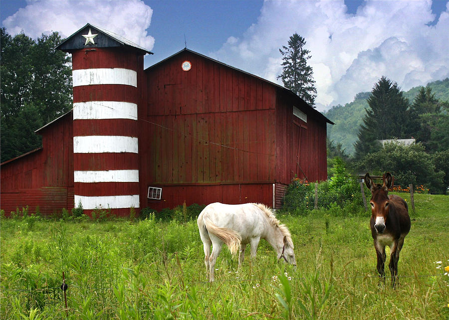 Red Barn Photograph - Rural America by Lori Deiter