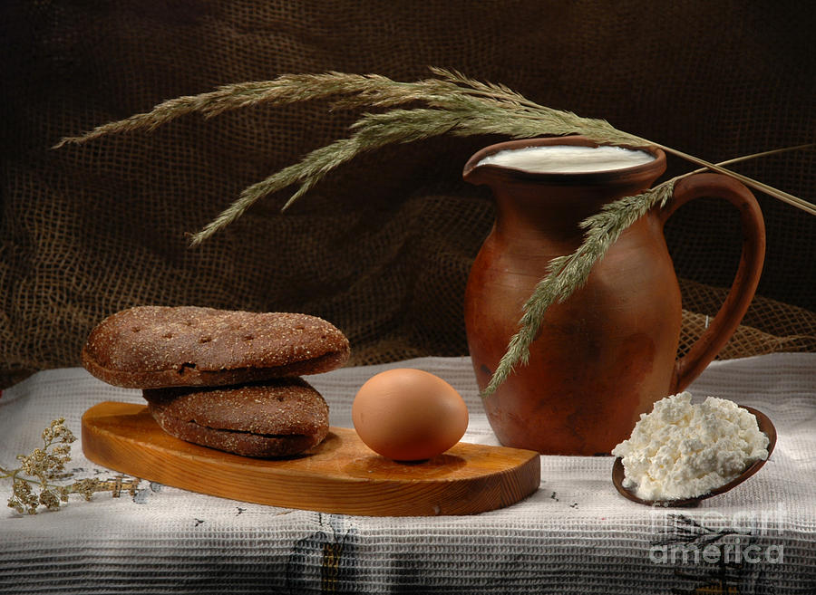 Still Life Photograph - Rural Breakfast by Irina No
