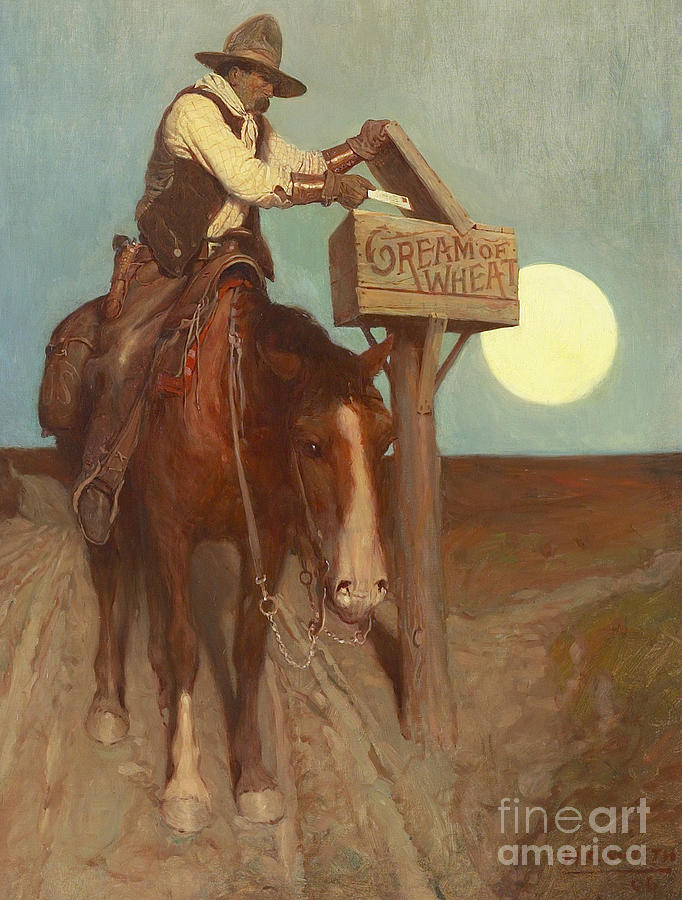Moon Painting - Rural Delivery by Newell Convers Wyeth