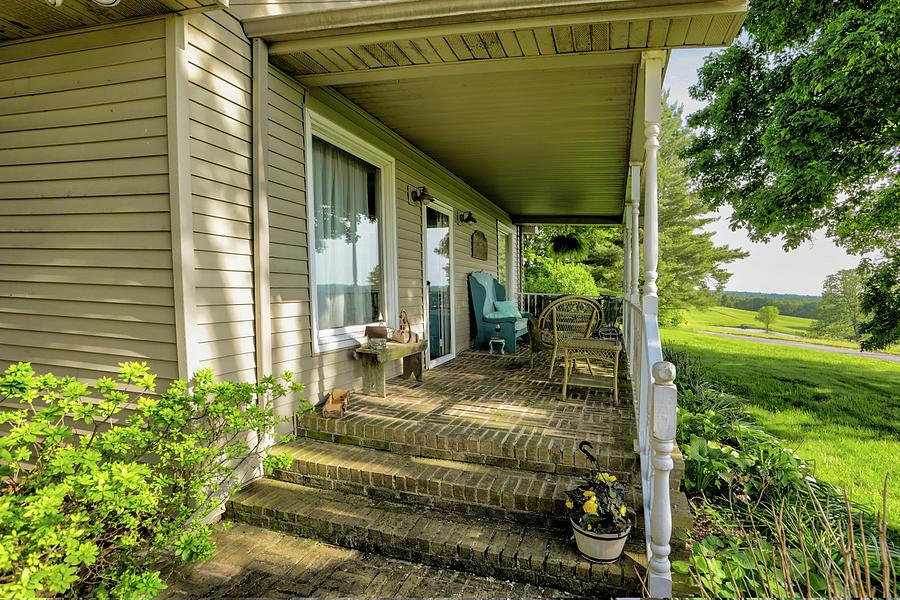 Real Estate Photography Photograph - Rural Front Porch by Jeff Kurtz