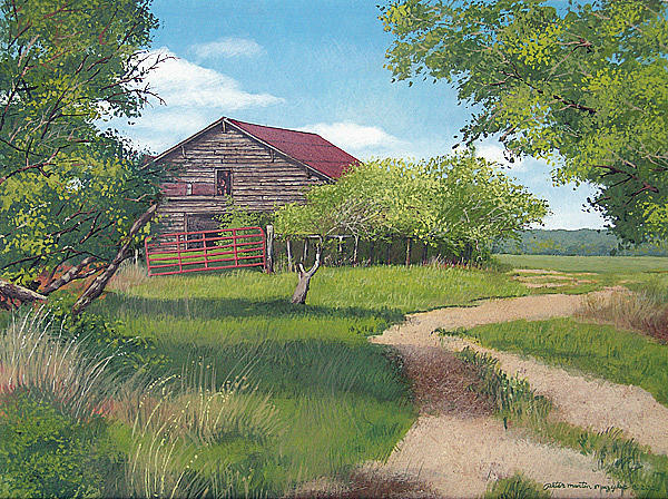 Rural georgia farm painting by peter muzyka for Old farm houses for sale in georgia