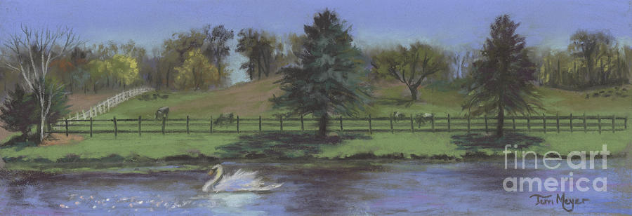 Landscape Painting Painting - Rural Landscape Painting Of Bauer Farm by Terri  Meyer