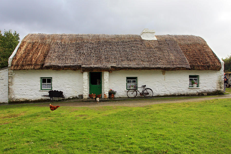 Thatch Roof Photograph - Rural Life In Ireland by Pierre Leclerc Photography