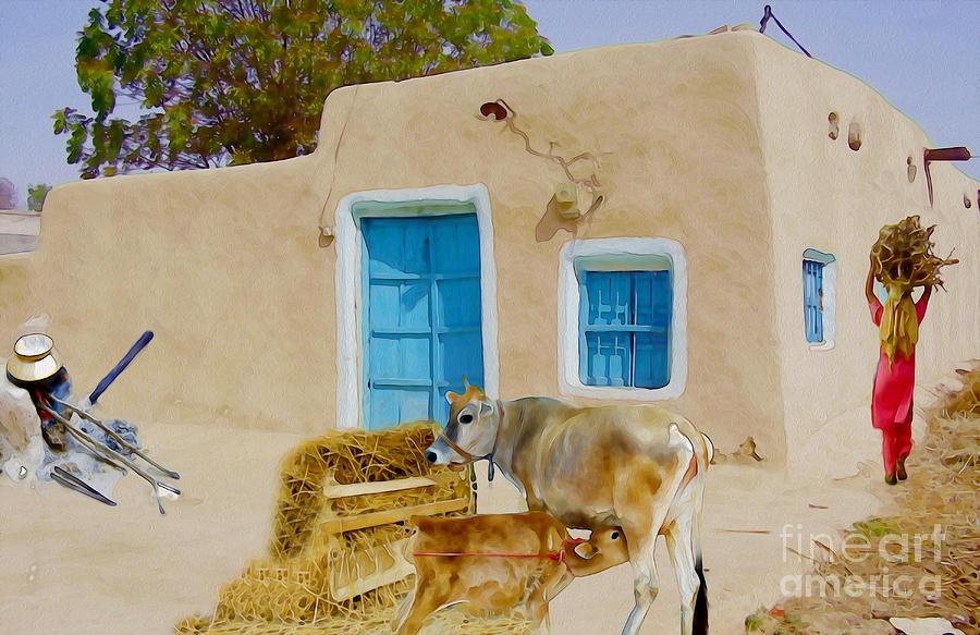 India Photograph - Rural Life  by Manjot Singh Sachdeva