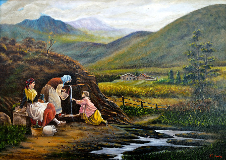 Rural Life Painting by Tony Banos