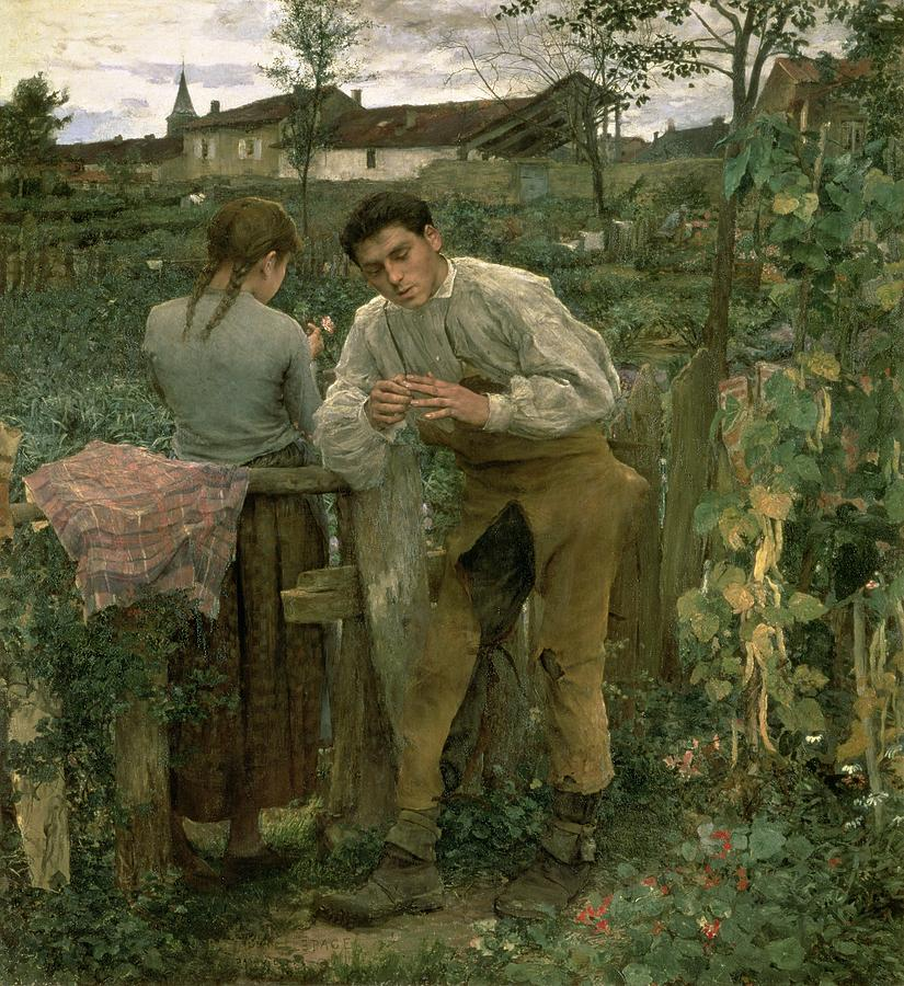 Valentine's Day Painting - Rural Love by Jules Bastien Lepage