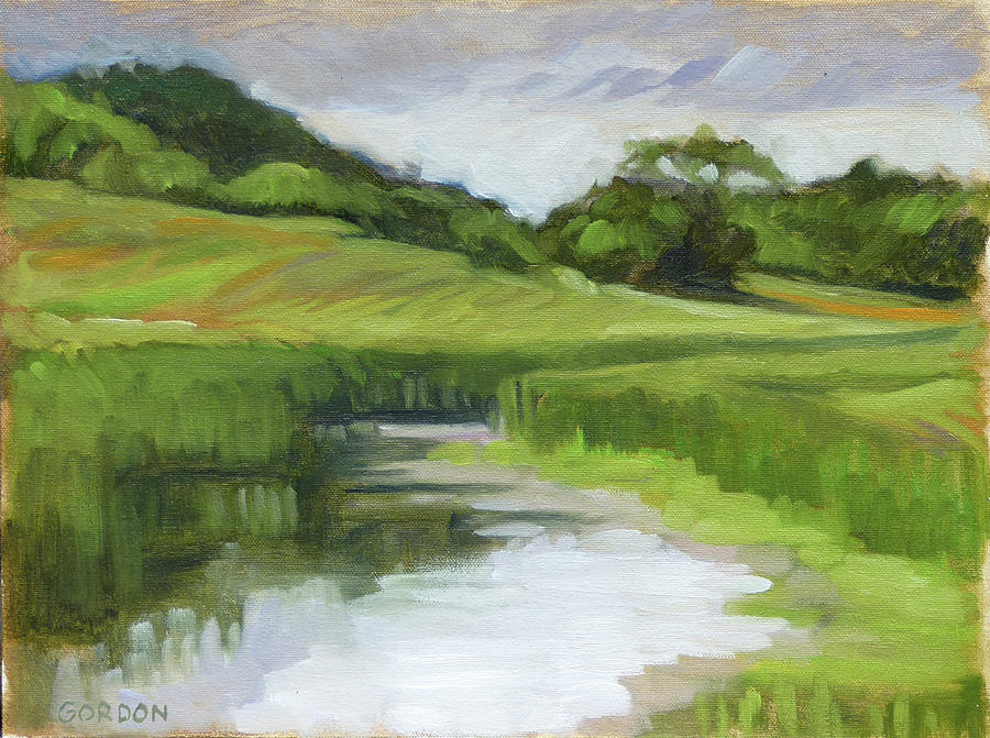 Landscape Painting - Rural Marsh by Kim Gordon