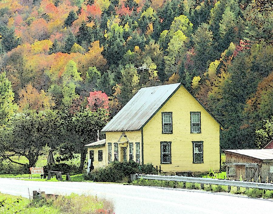 Autumn Photograph - Rural New England by Betty LaRue