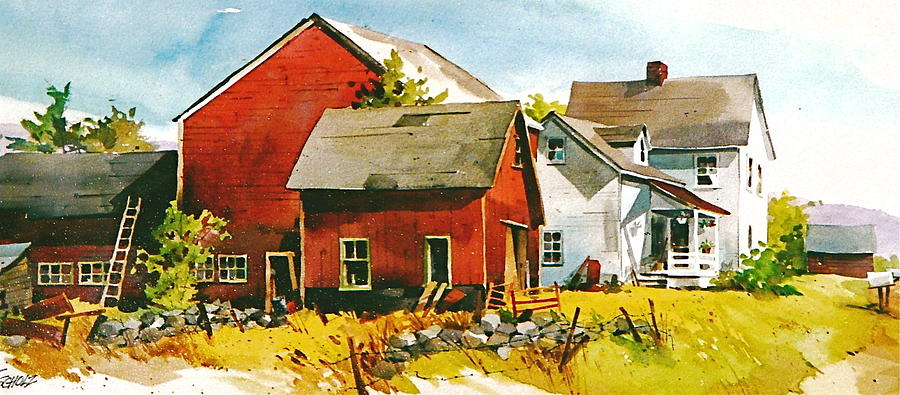 Rural Red Painting by Art Scholz
