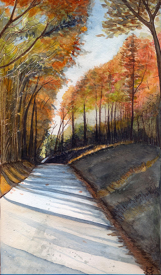 Rural Route in Autumn by Katherine Miller