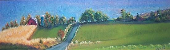Farm Painting - Rural Route by JEAN DeLaO