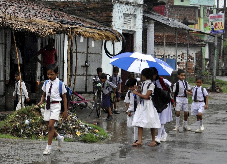Rural Photograph - Rural School Children  by Bliss Of Art