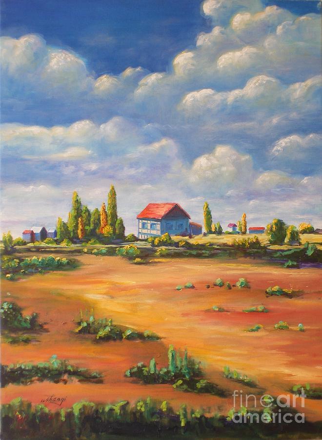 Landscape Painting - Rural Skies by Ushangi Kumelashvili