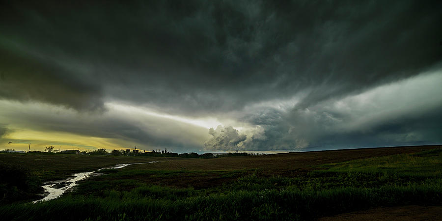 Rural Spring Storm over Chester Nebraska by Art Whitton