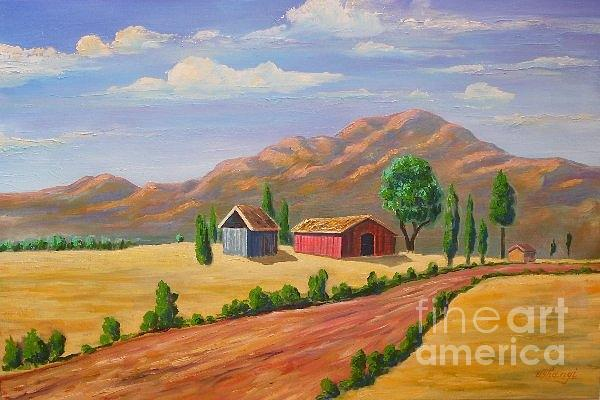Landscape Painting - Rural Thougts by Ushangi Kumelashvili