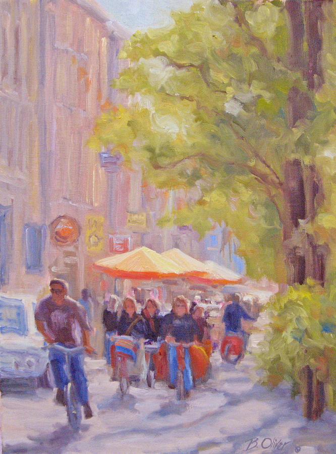 Amsterdam Painting - Rush Hour Amsterdam by Bunny Oliver