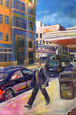Cityscape Painting - Rush by Marty Smith