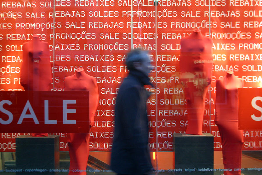 London Photograph - Rushing Away From The Sales by Jez C Self