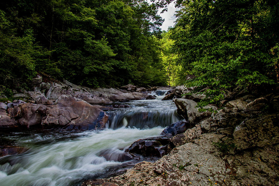 Falls Photograph - Rushing Falls In The Mountains by Anthony Cooper