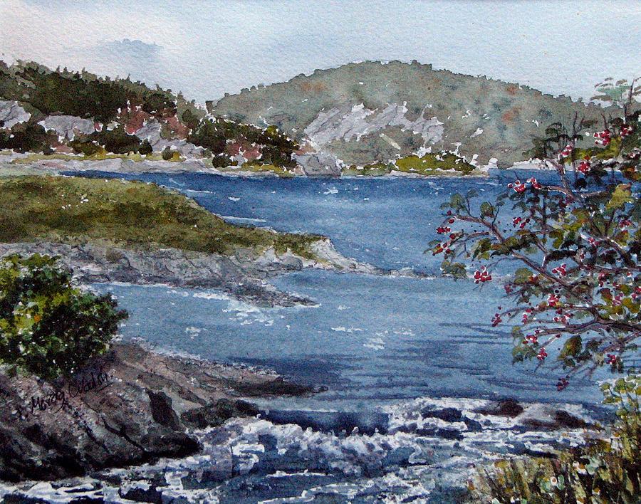 Rushing Towards The Falls Painting by Morag Walsh