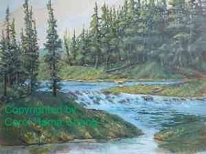 Rushing Waters Painting by Carol Hama Chang
