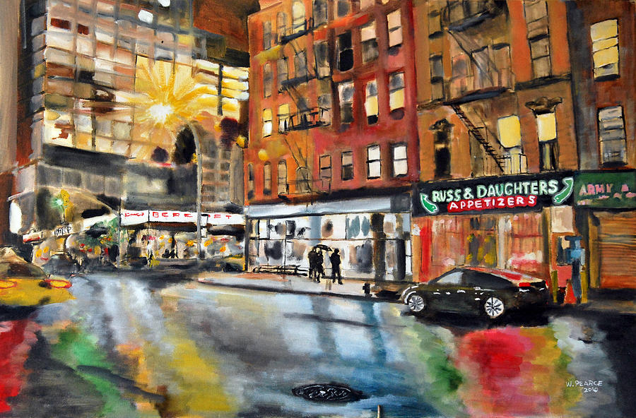 Russ And Daughters Painting - Russ And Daughters by Wayne Pearce