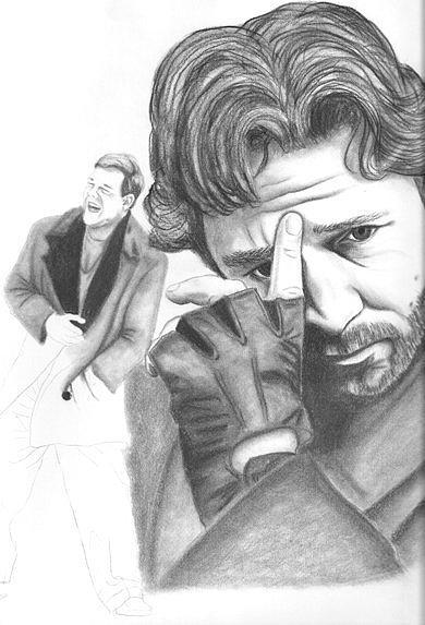 Russel Crowe Drawing - Russel Crowe by Rebecca Bellomo