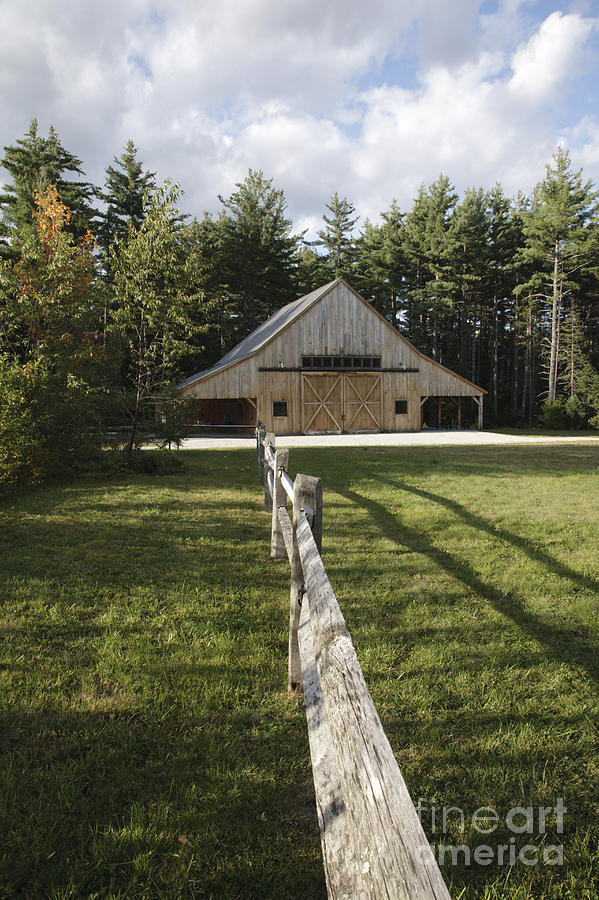 Barn Photograph - Russell-colbath Historic Homestead - White Mountains Nh by Erin Paul Donovan