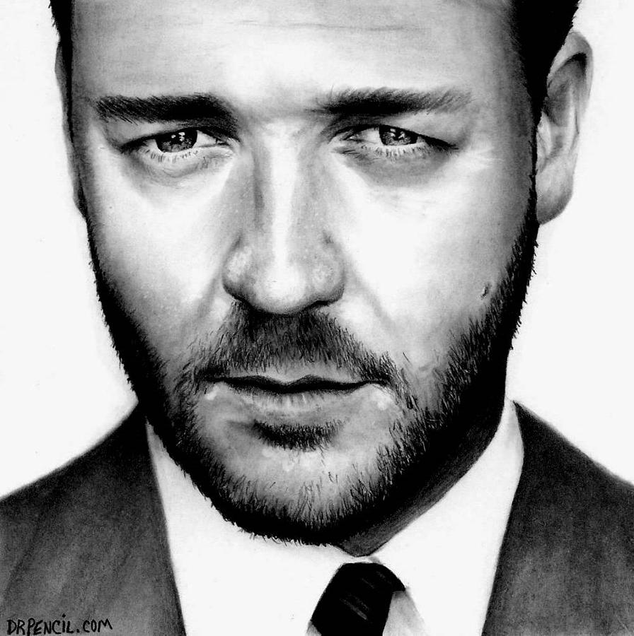 Russell Crowe Drawing - Russell Crowe  by Rick Fortson