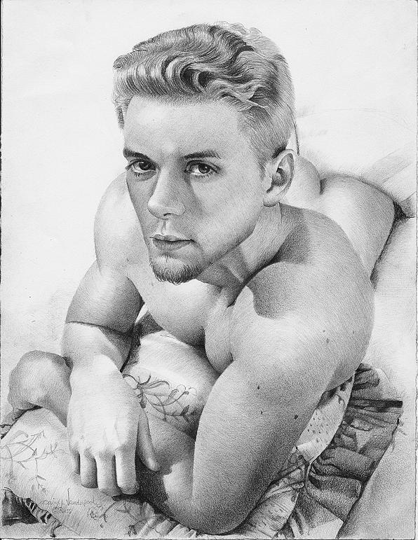 Vanderpool Drawing - Russell by David Vanderpool