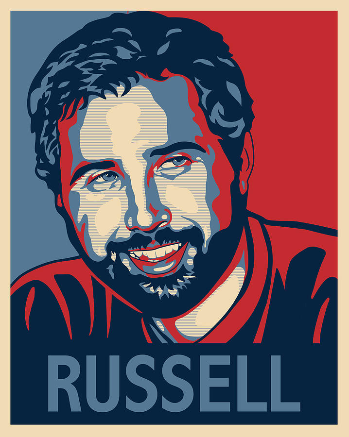 Poster Digital Art - Russell by Sue  Brehant