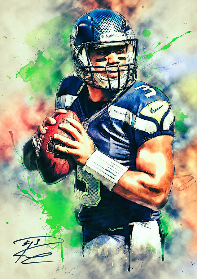 Russell Wilson Painting