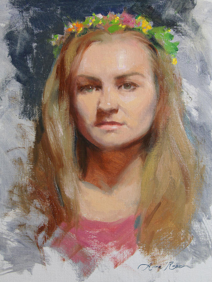 Russian Painting - Russian Girl by Anna Rose Bain