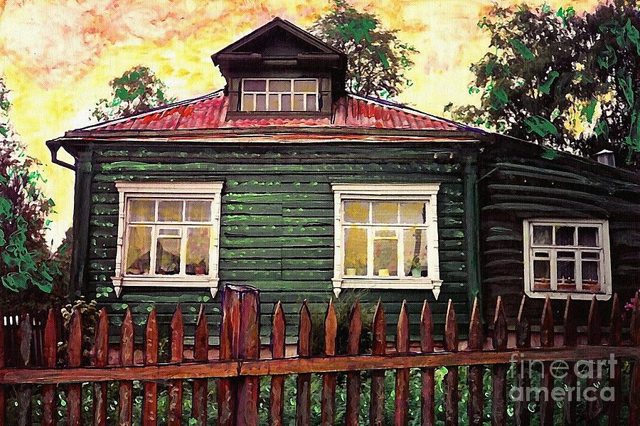 Russia Mixed Media - Russian House 2 by Sarah Loft