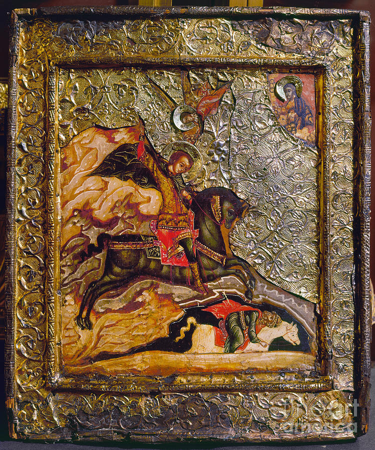 17th Century Photograph - Russian Icon: Demetrius by Granger