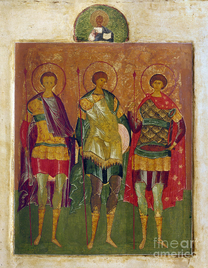 16th Century Photograph - Russian Icon: Saints by Granger