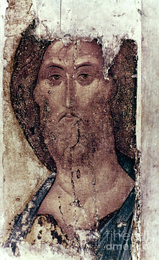 15th Century Photograph - Russian Icons: The Saviour by Granger