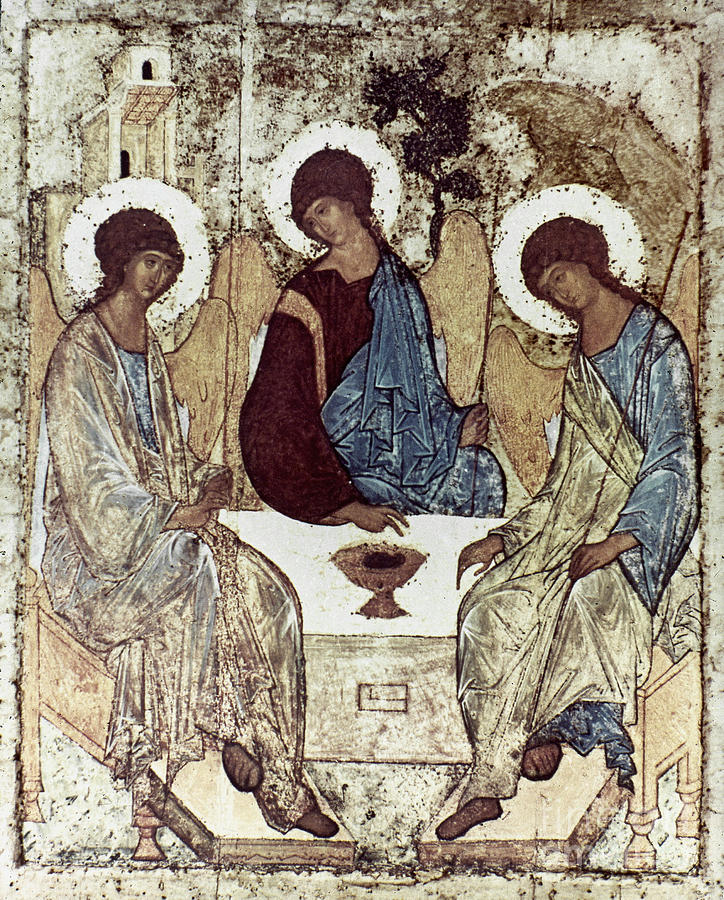 15th Century Photograph - Russian Icons: The Trinity by Granger