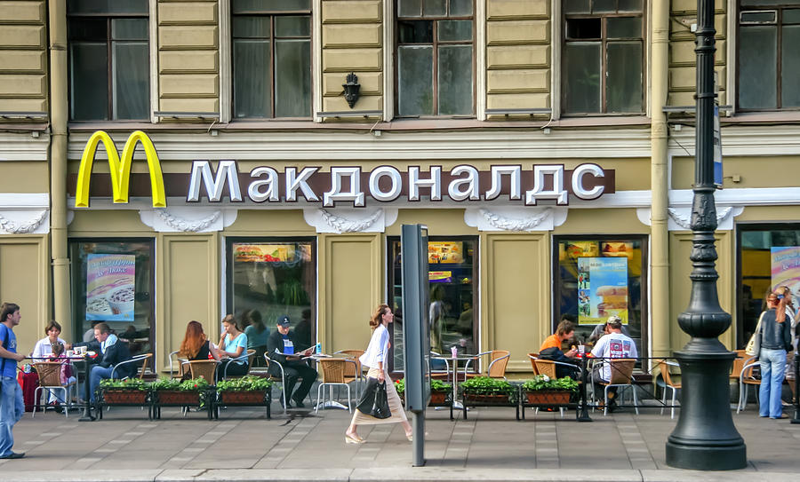 Tour Photograph - Russian Mcdonalds by KG Thienemann
