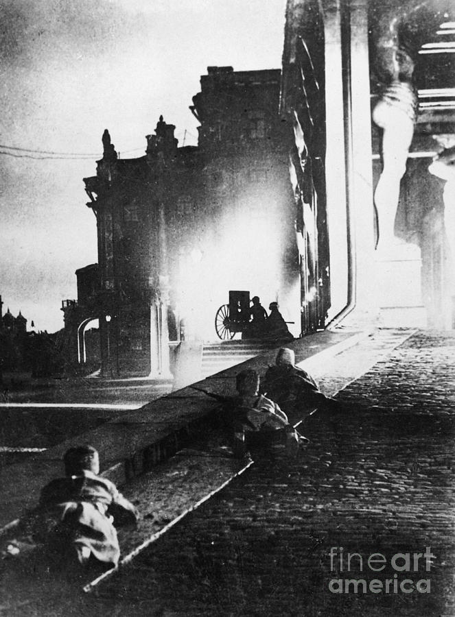 1917 Photograph - Russian Revolution, 1917 by Granger