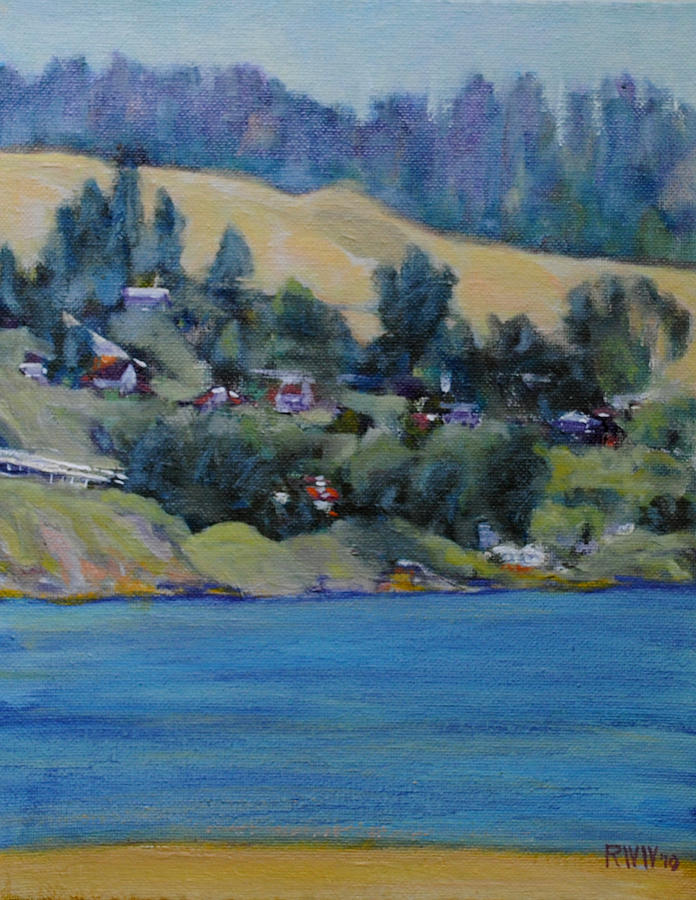 Russian River Painting by Richard  Willson